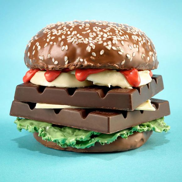 chocolate hamburger