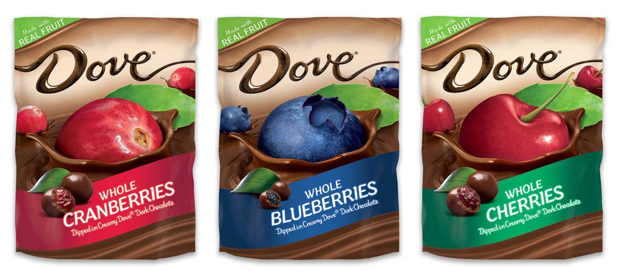 Dove fruit chocolate