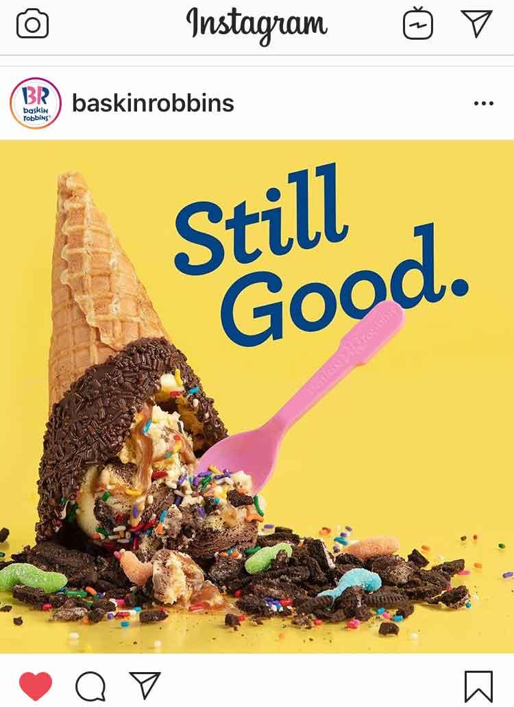 Baskin Robbins Instagram