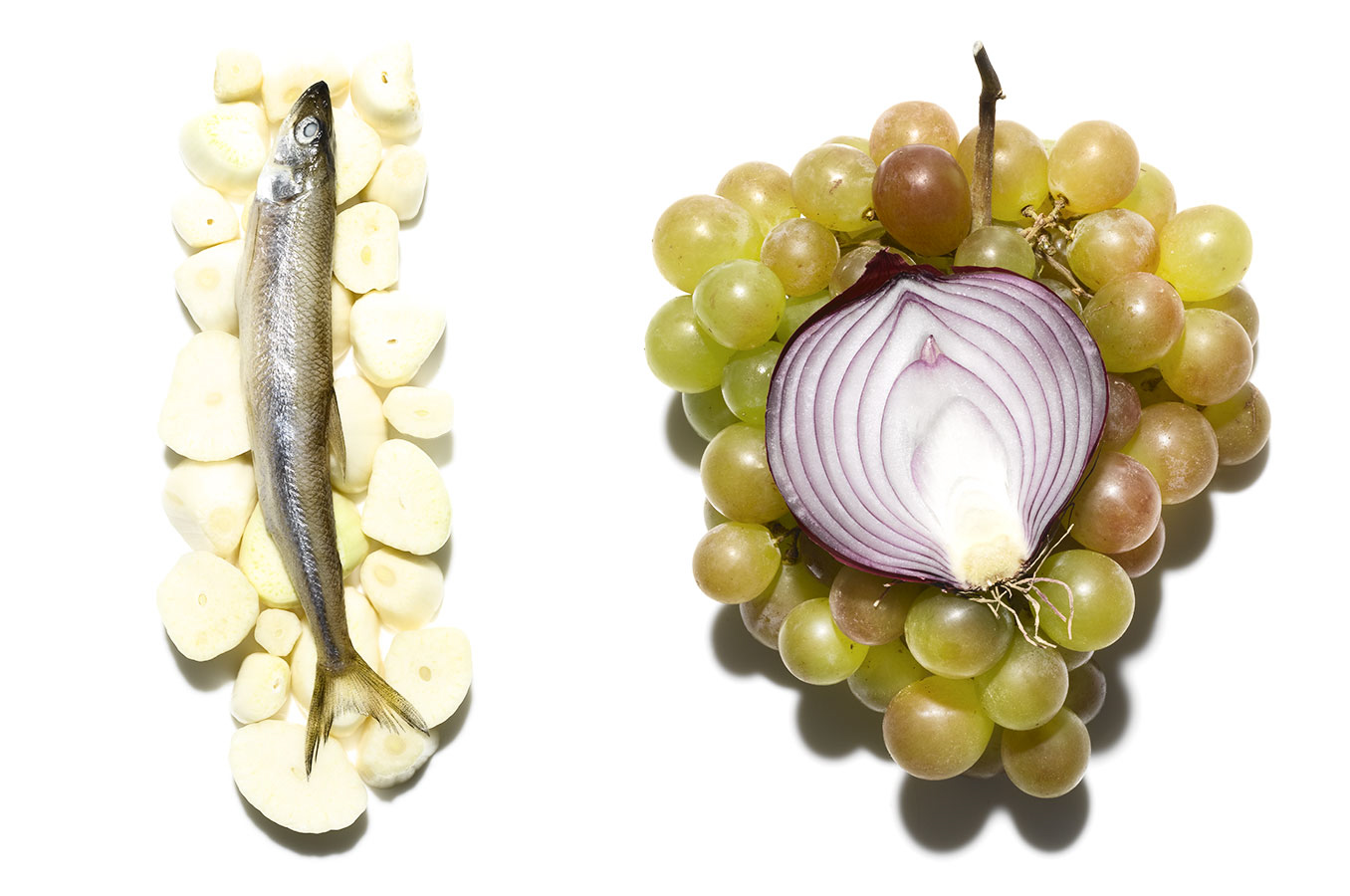 Onion Grape Anchovies