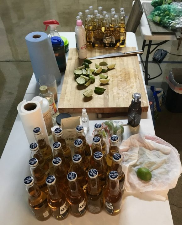 Corona beer shoot behind the scenes